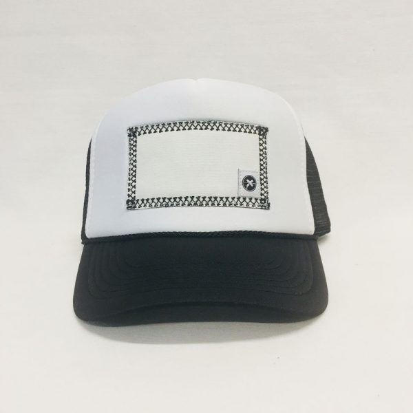 Scratch-A-Patch Black and White Hat Black Trim